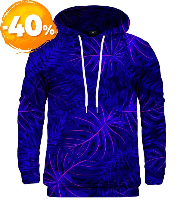 Tropical Dark Blue hoodie Miniature 1