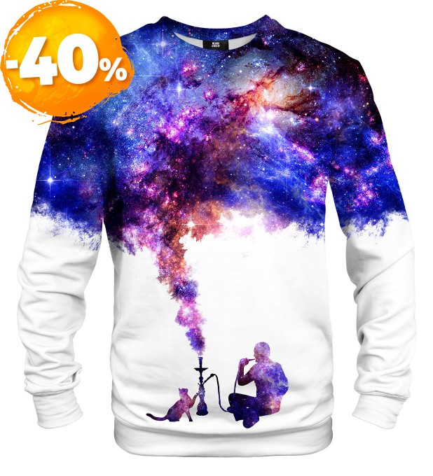 Space Let's Smoke sweatshirt Miniaturbild 1