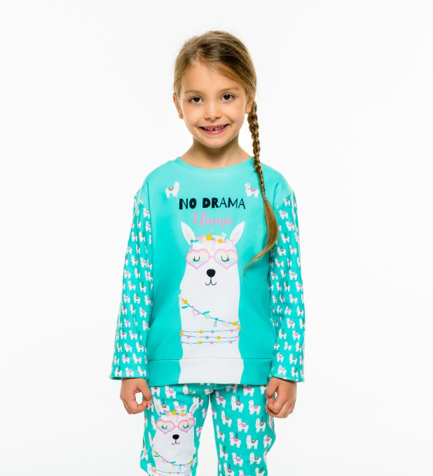 No Drama Llama sweater for kids Miniature 2
