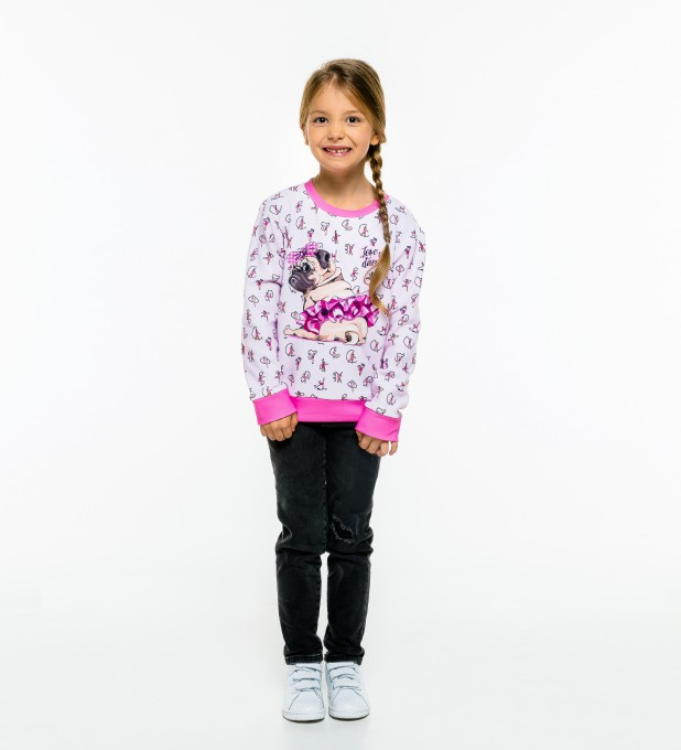 Pug Dancer sweater for kids аватар 1