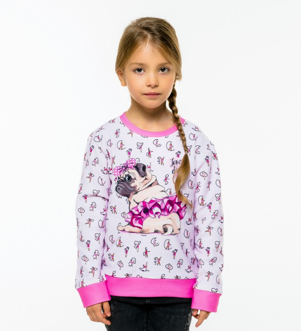 Pug Dancer sweater for kids Thumbnail 2