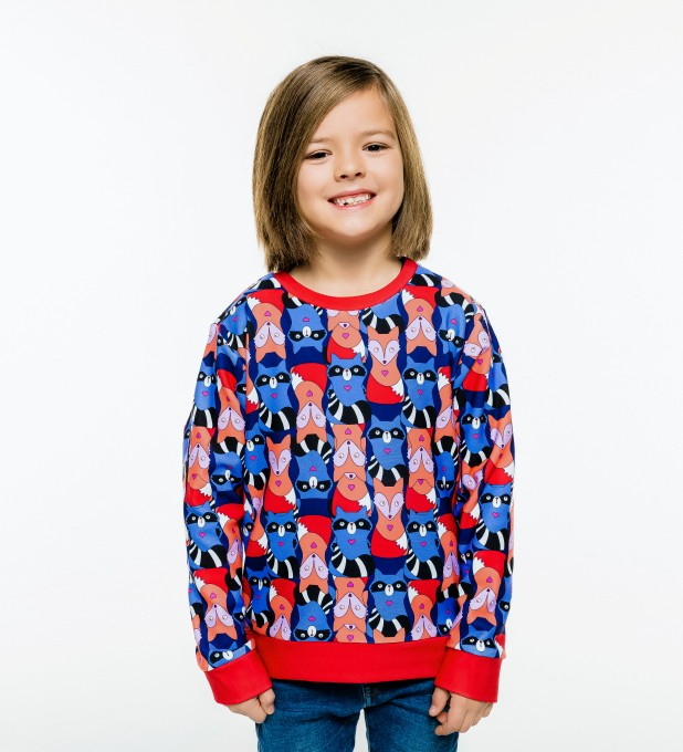 Raccoons'n'foxes sweater for kids аватар 1