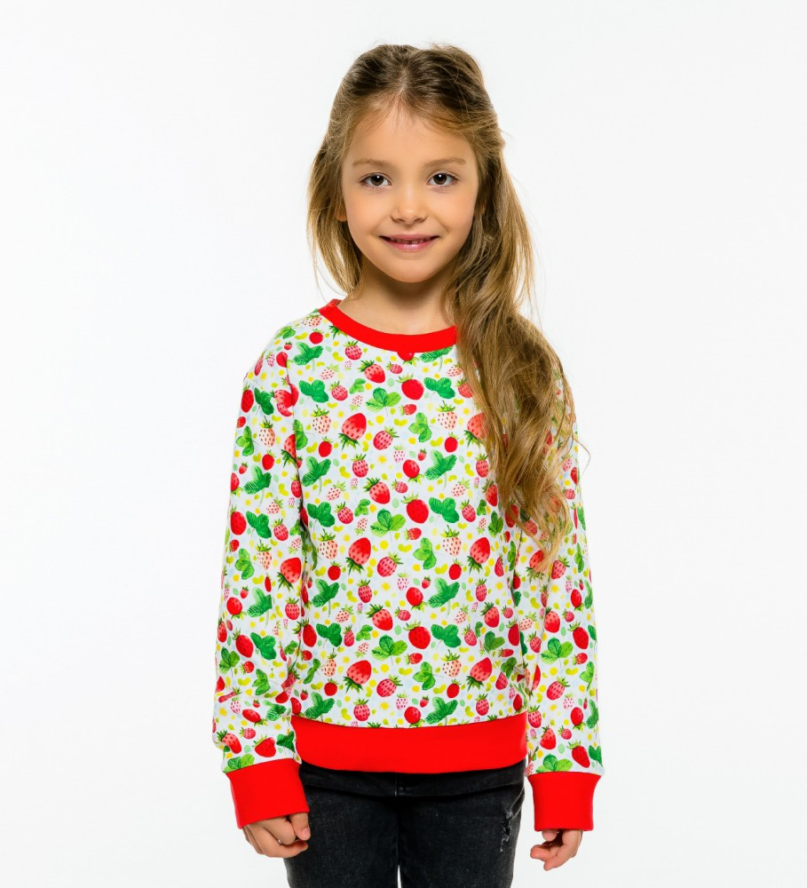 Mr. Gugu & Miss Go, Strawberries Pattern sweater for kids Image $i