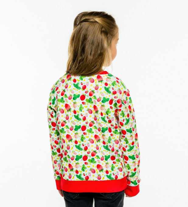 Strawberries Pattern sweatshirt für Kinder Miniaturbild 2