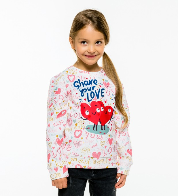 Love Selfie sweater for kids Thumbnail 1