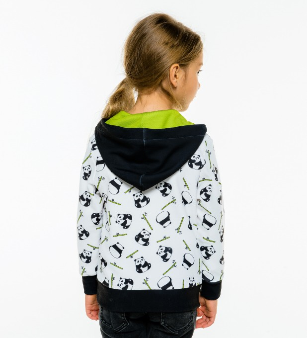 Rolling Pandas Kids Zip Up Hoodie Miniature 1