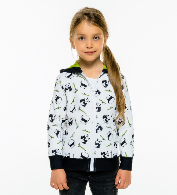 Rolling Pandas Kids Zip Up Hoodie Miniature 2