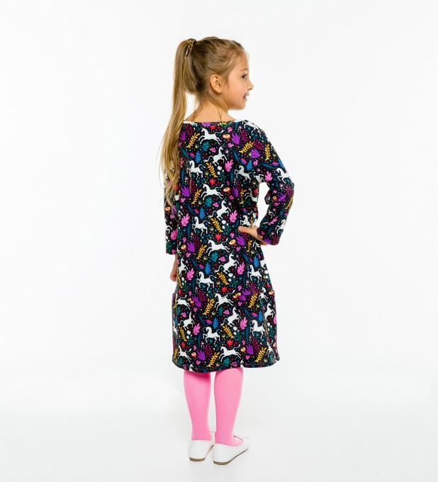 Folk Unicorn Longsleevess dress for kids Thumbnail 2
