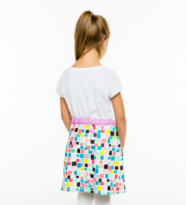 Rectangles Skirt for kids Thumbnail 2