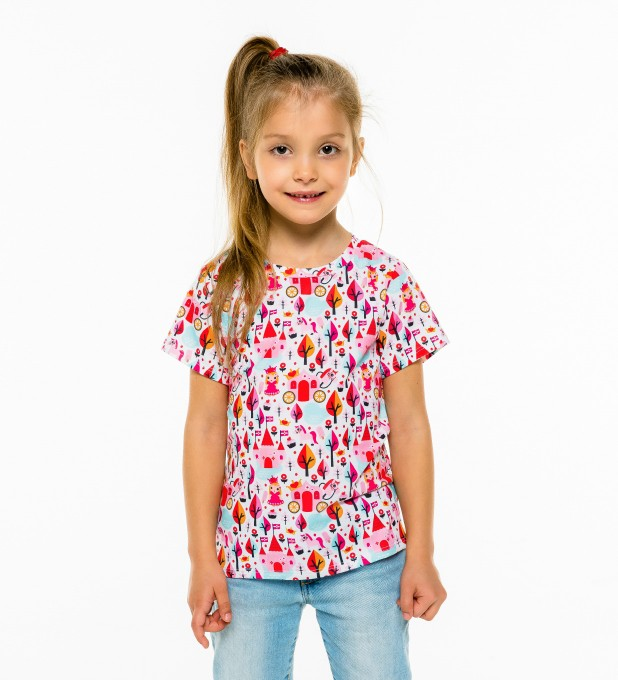 Princess Pattern t-shirt for kids Miniature 1