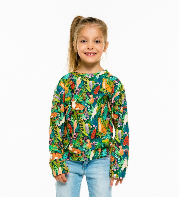 In the Jungle sweatshirt für Kinder Miniaturbild 1