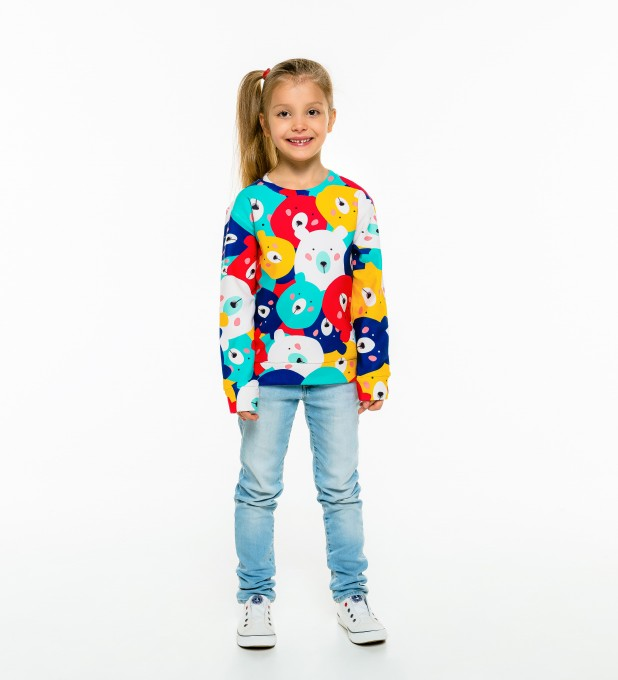 Colorful Bears sweater for kids Thumbnail 1