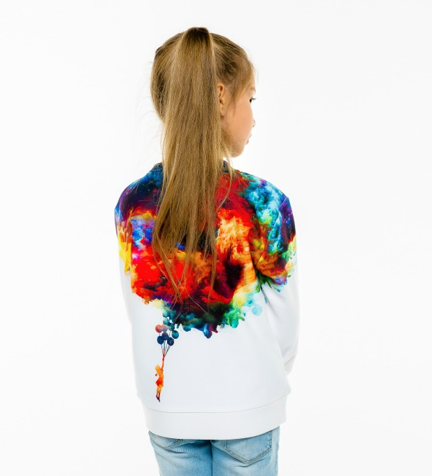 With balloons to galaxy sweater for kids  аватар 2