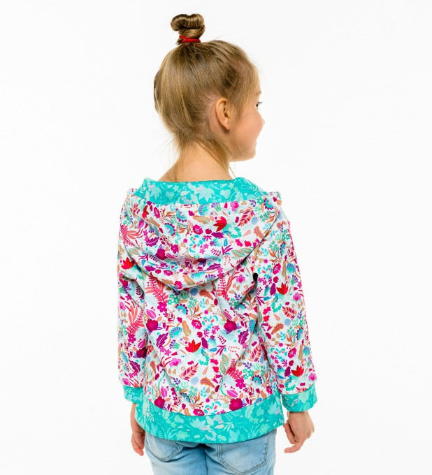 Flower Cat Kids Hoodie Miniature 2