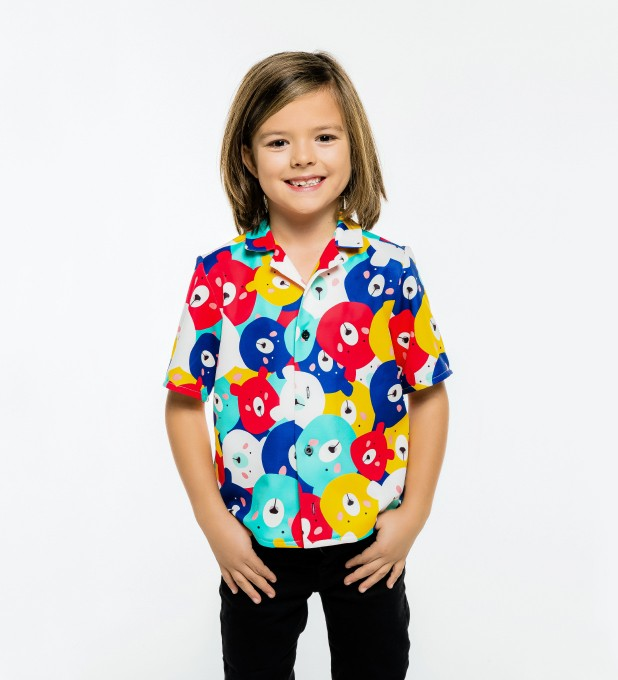 Colorful Bears Shirt for kids Miniature 1