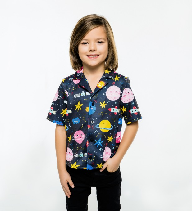 Funny Space Shirt for kids Miniature 1