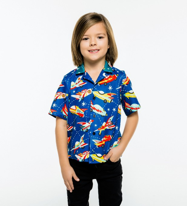 Space Ship Shirt for kids Miniature 1