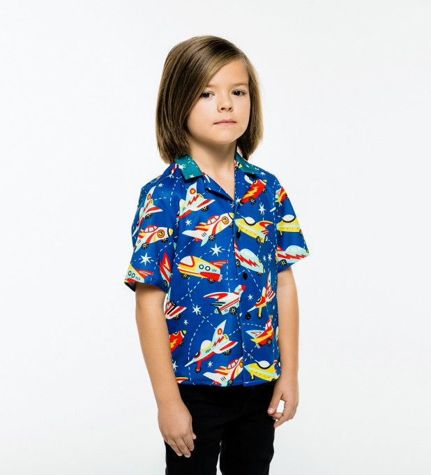 Space Ship Shirt for kids Miniature 2