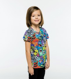Mr. Gugu & Miss Go, Colorful Monsters t-shirt for kids Miniatura $i