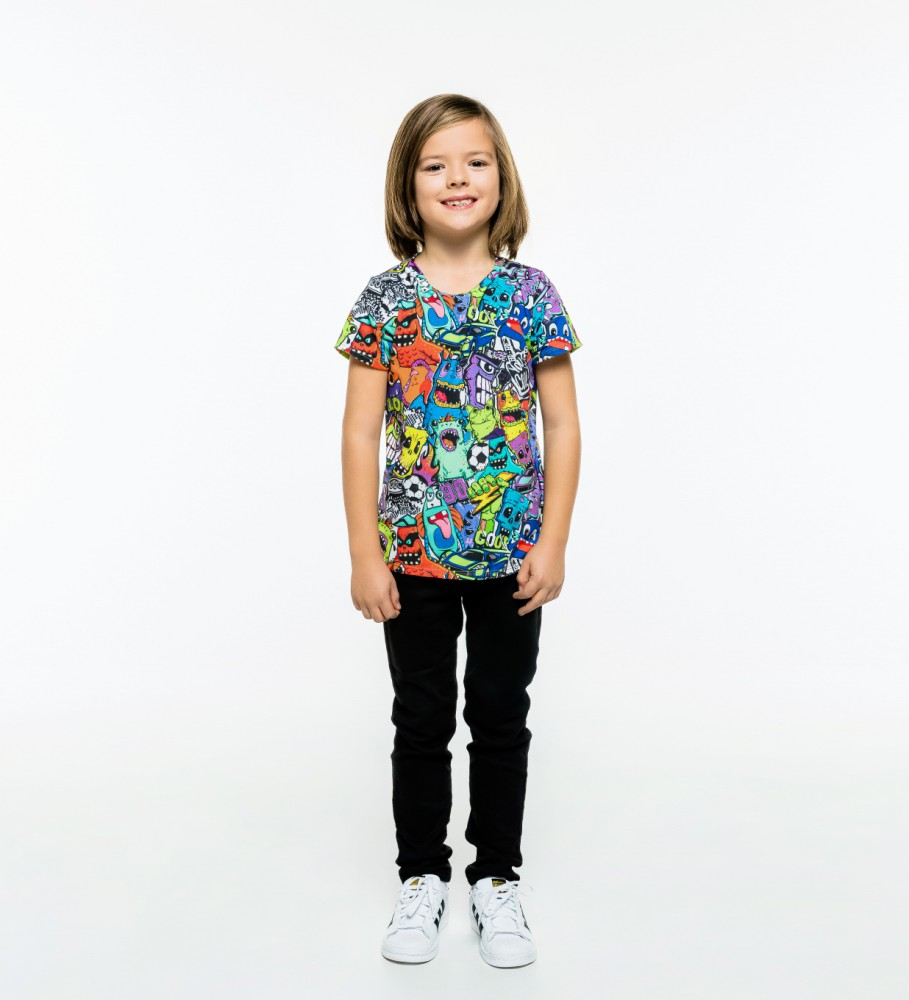 Mr. Gugu & Miss Go, Colorful Monsters t-shirt for kids Immagine $i