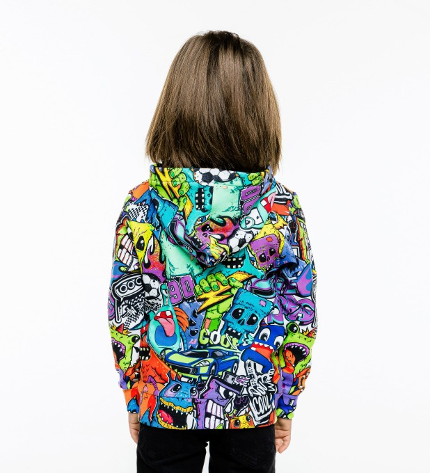 Colorful Monsters Kids Zip Up Hoodie Miniature 2