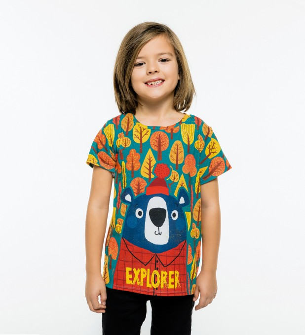 Bear Explorer t-shirt for kids Miniature 1