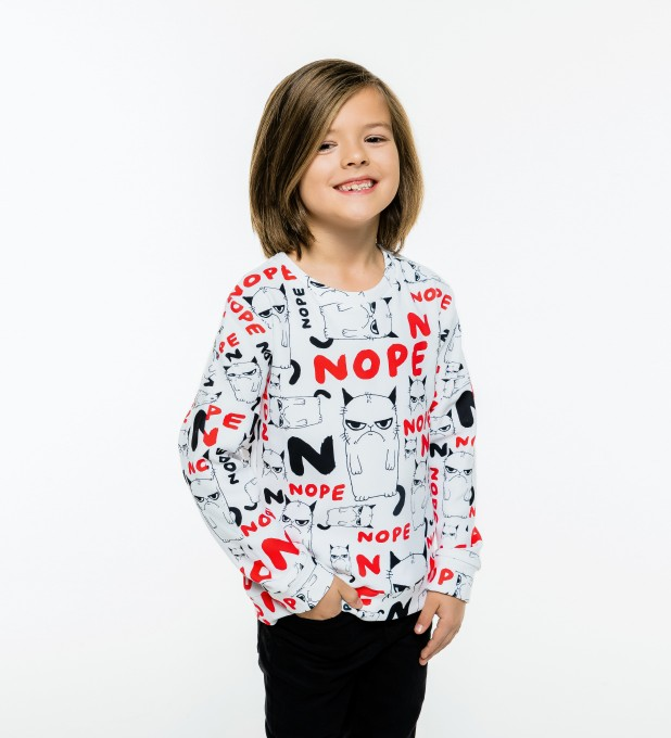 Grumpy Nope sweater for kids Thumbnail 1