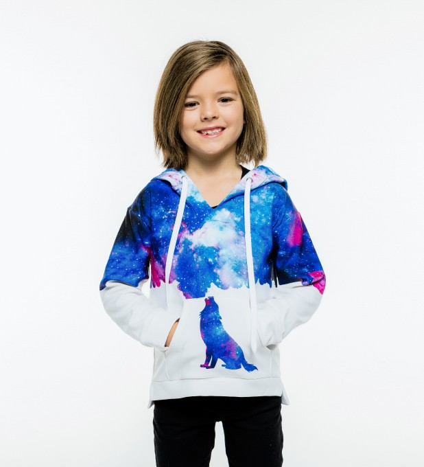 Howling to galaxy Kids Hoodie Miniature 1