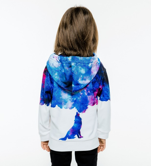 Howling to galaxy Kids Hoodie Miniature 2