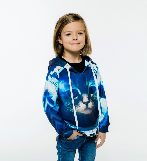 Space Cat Kinder Kapuzenpullover Miniaturbild 1