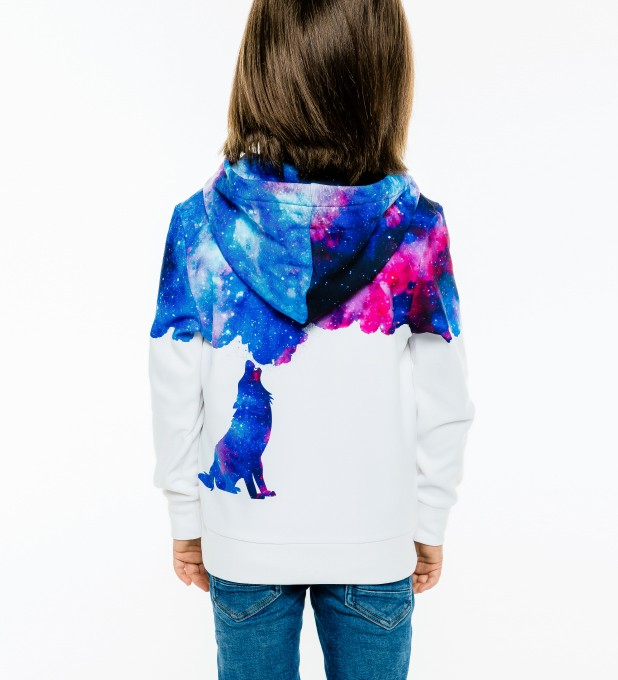 Howling to galaxy Kids Zip Up Hoodie Miniatura 2