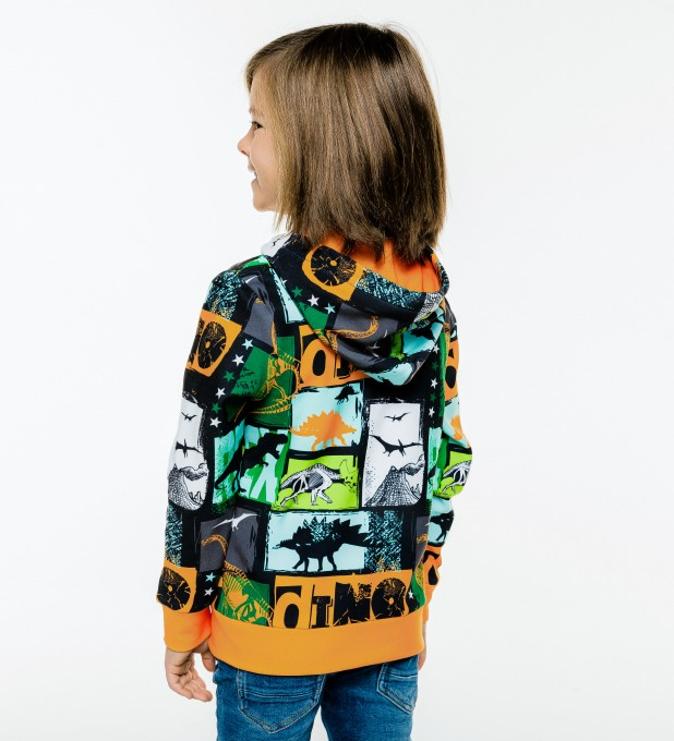 Dinosaurs Kids Zip Up Hoodie Miniature 2