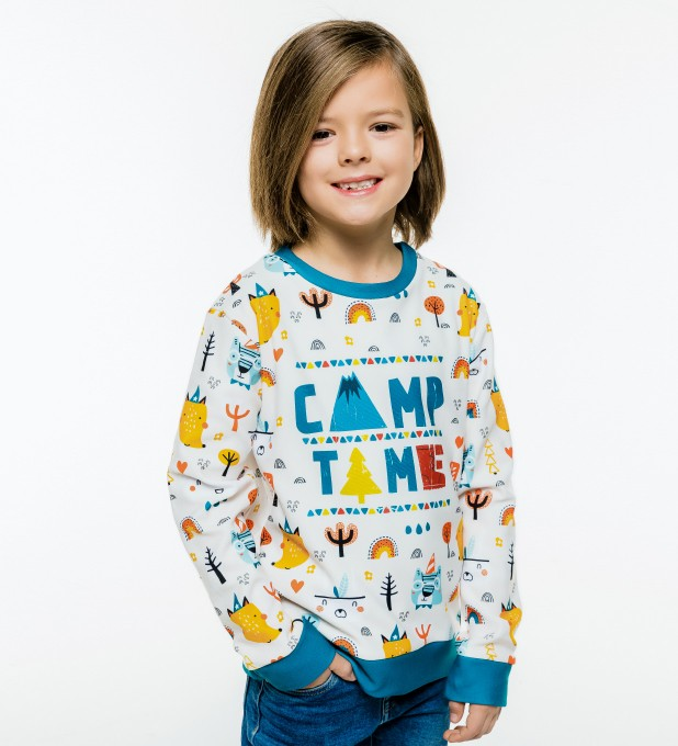 Camp Time sweater for kids Thumbnail 1