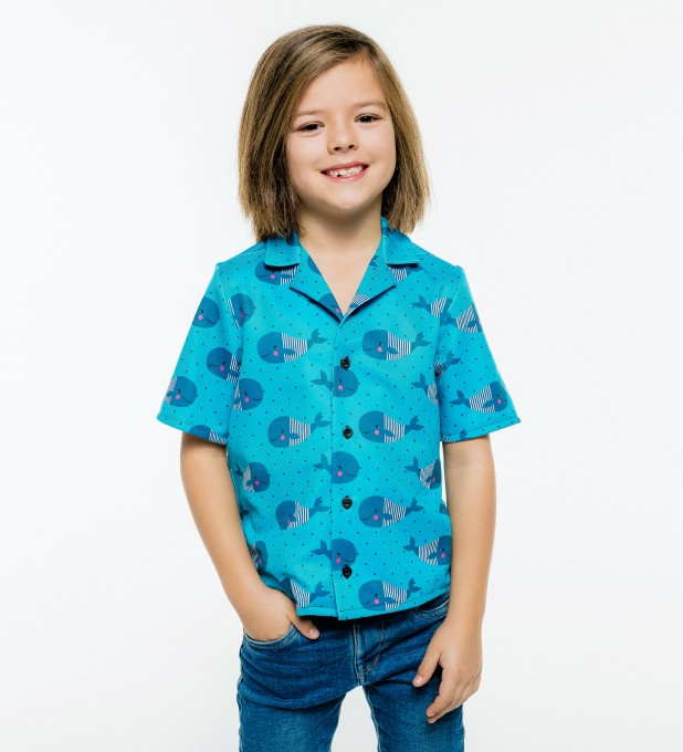 Whales Pattern Shirt for kids Miniature 1