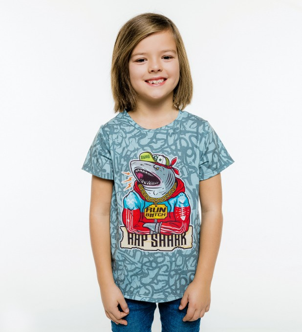 Rap Shark t-shirt for kids Thumbnail 1