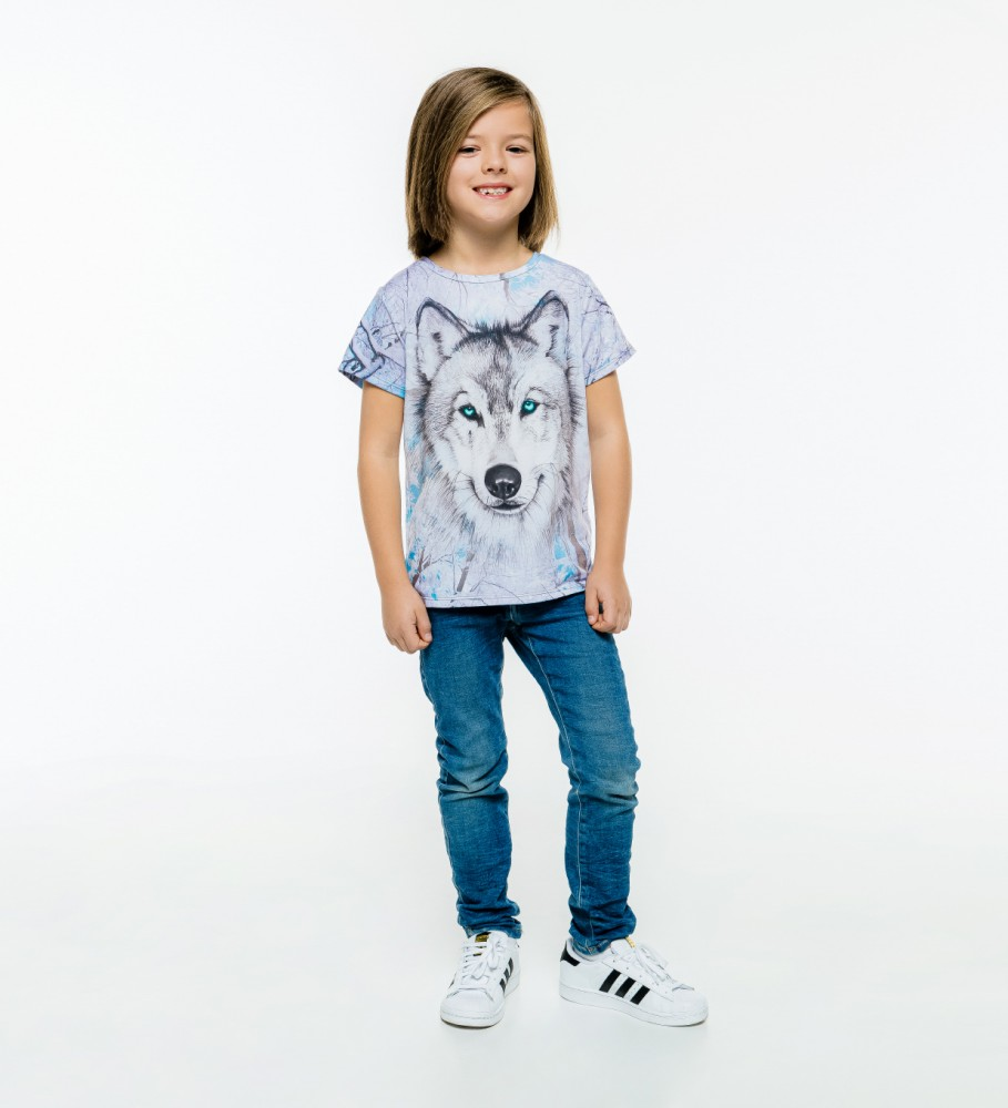 Mr. Gugu & Miss Go, Wolves t-shirt for kids Immagine $i