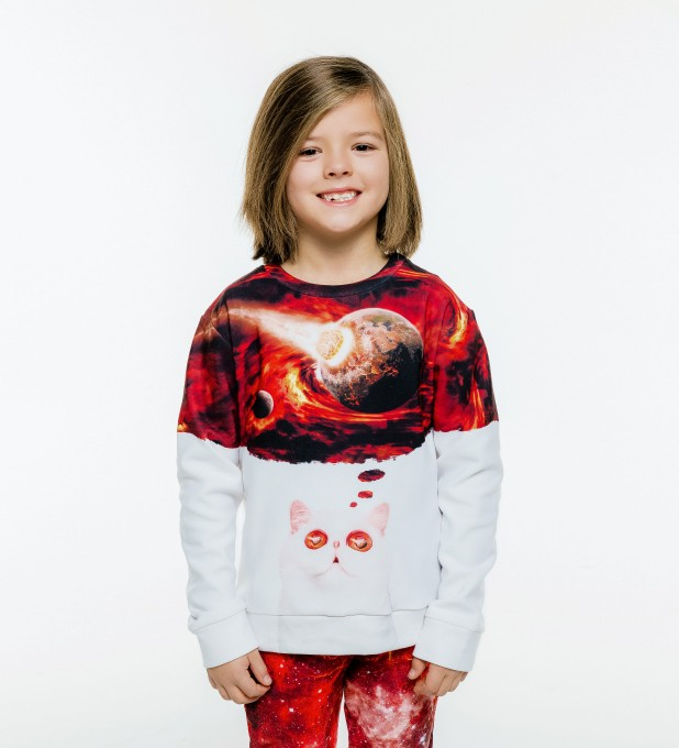 Cat Apocalypse sweater for kids Miniature 2