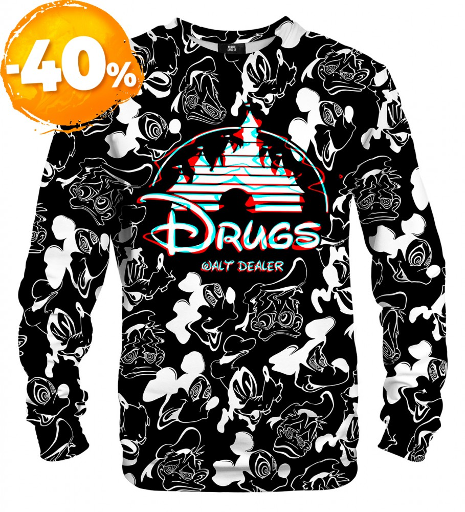 Mr. Gugu & Miss Go, Black and white Walt Dealer sweater Imagen $i
