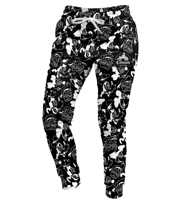 Black and white Walt Dealer womens sweatpants Miniatura 1