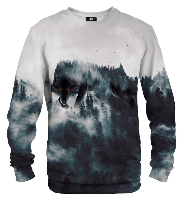 Wolf Forest Spirit sweater Thumbnail 2