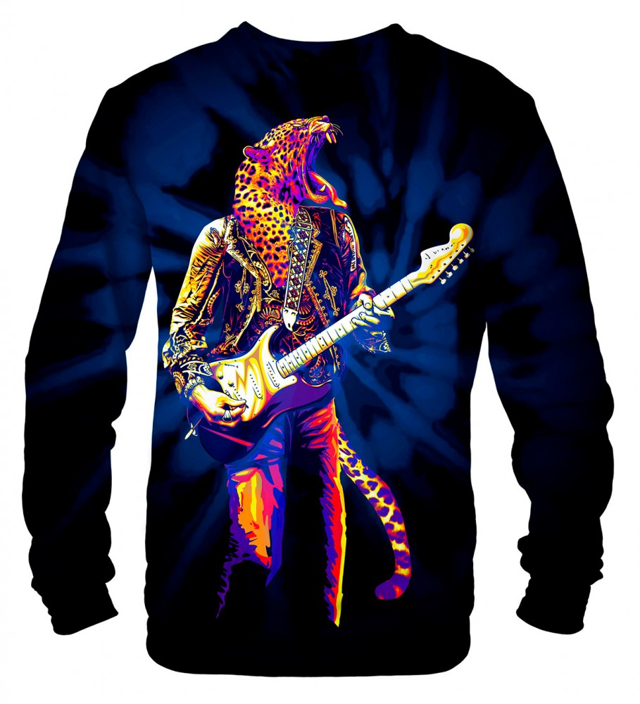 Mr. Gugu & Miss Go, Panther Guitarist sweater Imagen $i