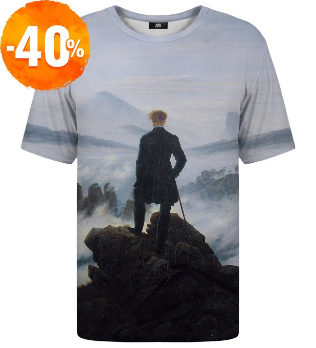 Wanderer above the Sea of Fog t-shirt Miniaturbild 1