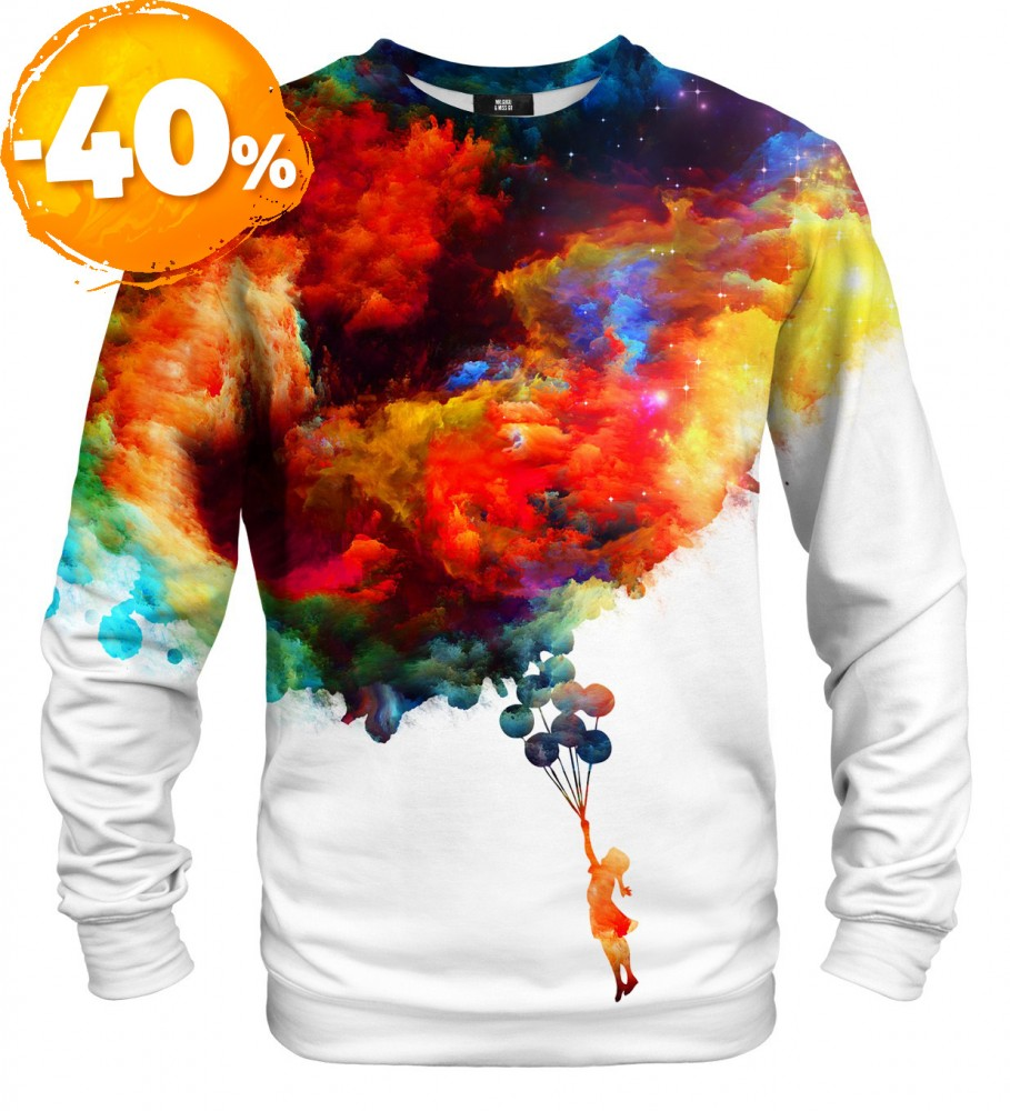 Mr. Gugu & Miss Go, With balloons to galaxy sweatshirt Foto $i