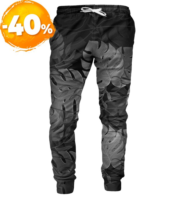 Monstera Black mens sweatpants Miniatura 1