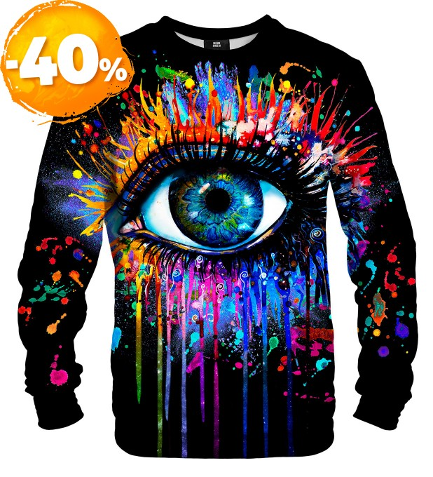 Black Fullprint sweater Miniature 1