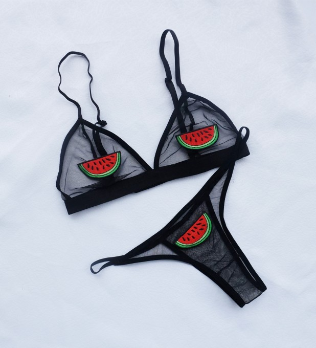 Water Melon Patched Bralette Thumbnail 2