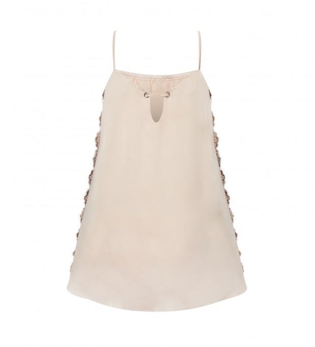 Aurora Beige Slip Dress Thumbnail 2