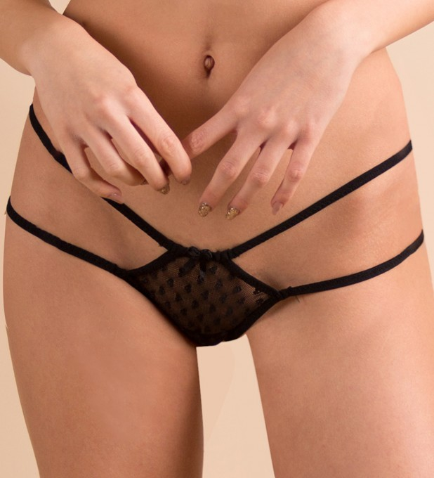 Black Sheer Love Panty  Thumbnail 1